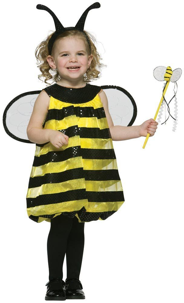 Girls toddler bumble bee costume mr costumes costumes for Creative toddler halloween costumes