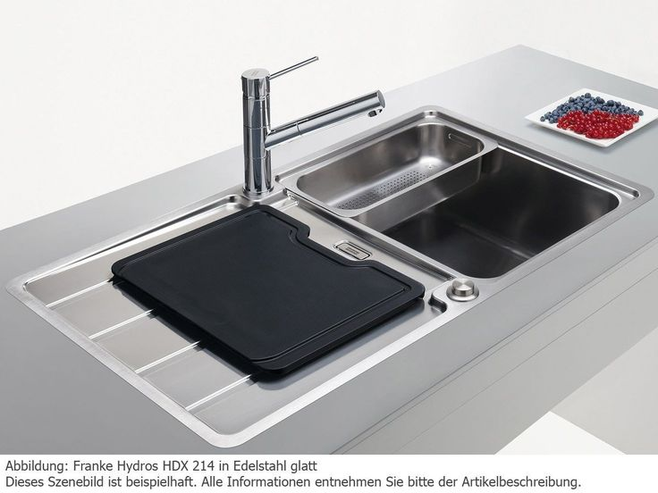 Franke Hydros HDX 214 Edelstahlspüle glatt Küchenspüle Spültisch Flächenbündig: Amazon.de: Baumarkt