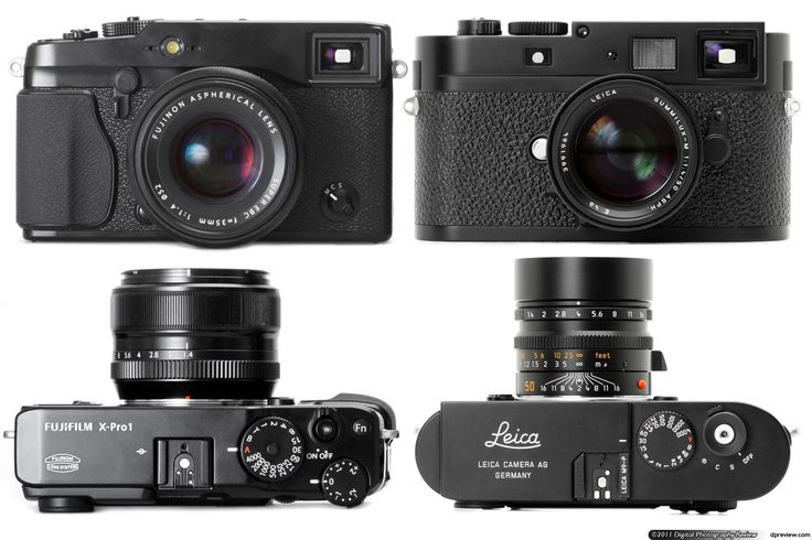 Fujifilm X-Pro1 compared in size to the Leica M9 - both are so beautiful