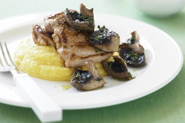 This tasty polenta side dish is the perfect accompaniment to our chicken with sauteed mushrooms and thyme recipe.