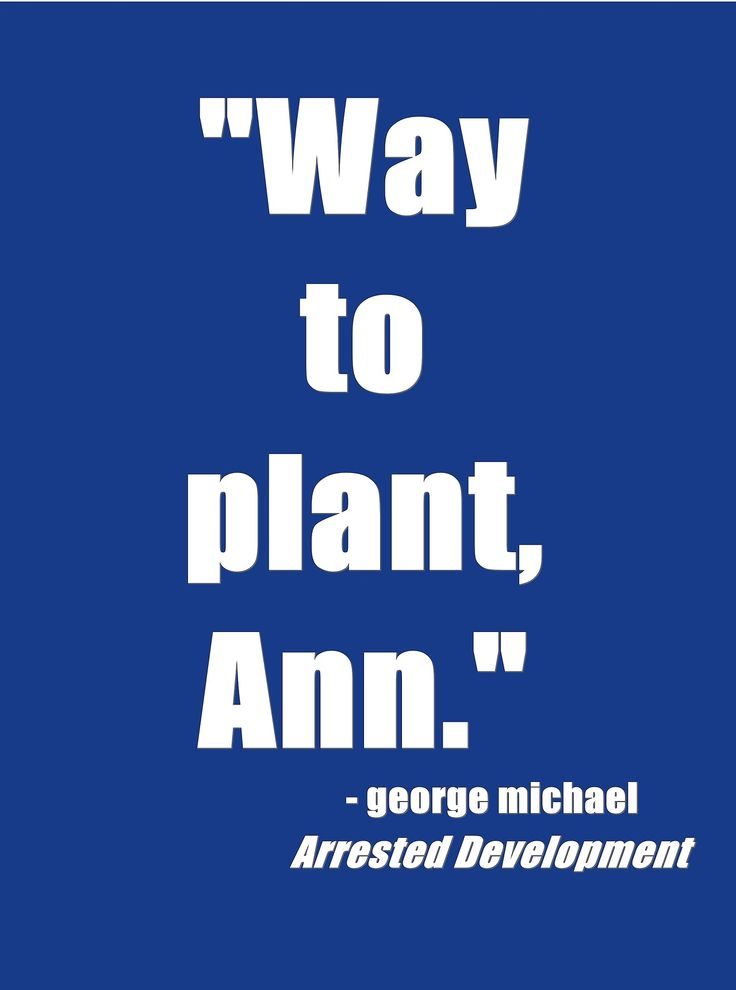 Way to plant, Ann - Arrested Development