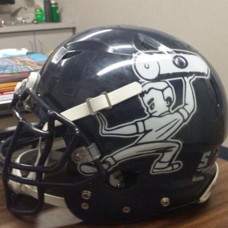 Football Helmet Sticker Designs : Images about football helmets on pinterest