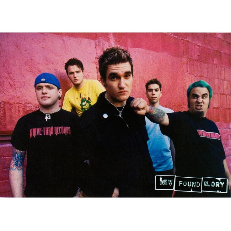 New Found Glory - Group Postcard