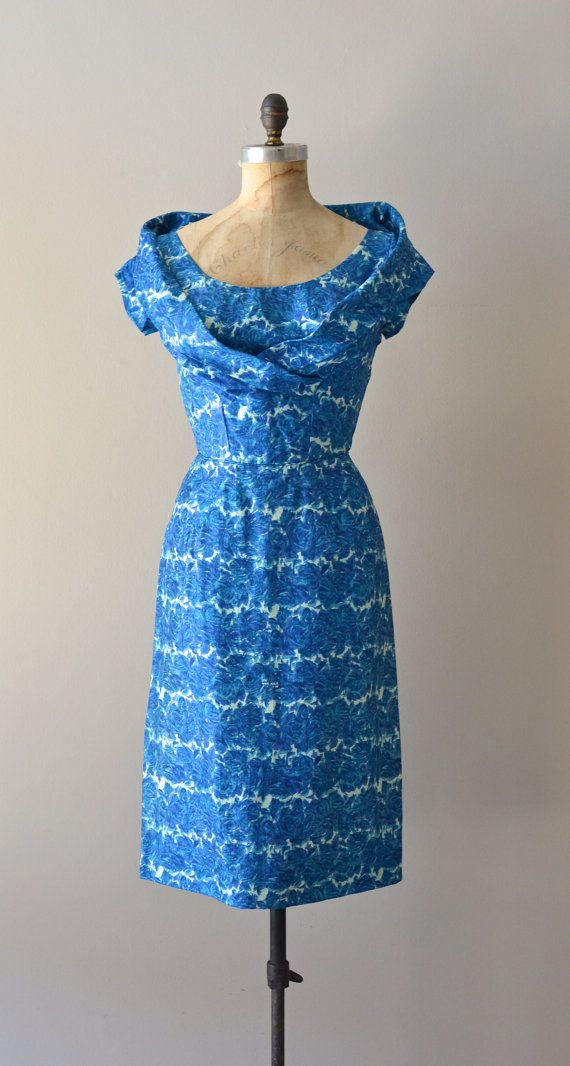 All or Nothing dress / vintage silk 50s dress / by DearGolden