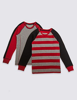 2 Pack Cotton Blend Assorted Tops (1-16 Years) | M&S