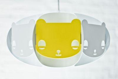 Lampa Mishka - limonka/biała // Kafti