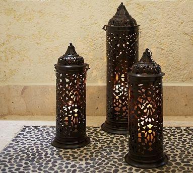 Darien Filigree Lanterns #potterybarn