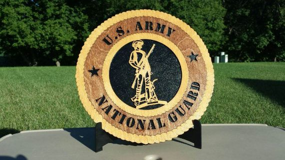 Laser Cut Baltic Birch Army National Guard by BPLaserEngraving