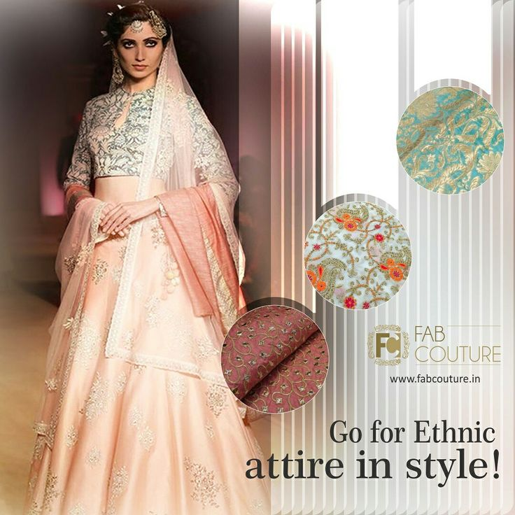Go for Ethnic attire in style with #FabCouture! #DesignerFabric at #AffordablePrices.  Buy your stock of fabric from: https://fabcouture.in/fabrics/embroidered-indian-fabrics.html  #DesignerDresses #Fabric #Fashion #DesignerWear #ModernWomen #DesiLook #Embroidered #WeddingFashion #EthnicAttire #WesternLook #affordablefashion #GreatDesignsStartwithGreatFabrics #LightnBrightColors #StandApartfromtheCrowd #EmbroideredFabrics