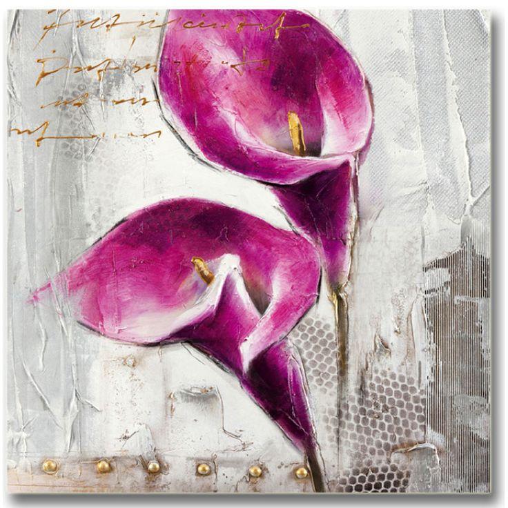 Toile peinte 30x30 Purple calia 3