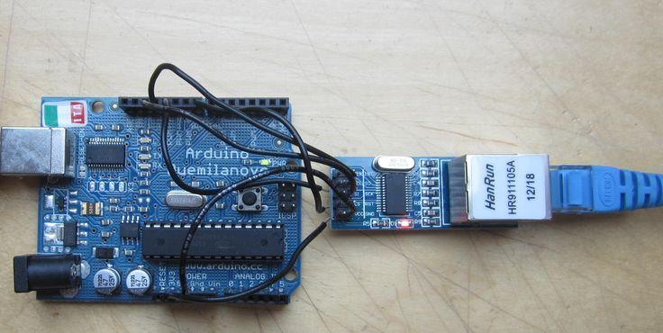 Arduino + ENC28J60 module