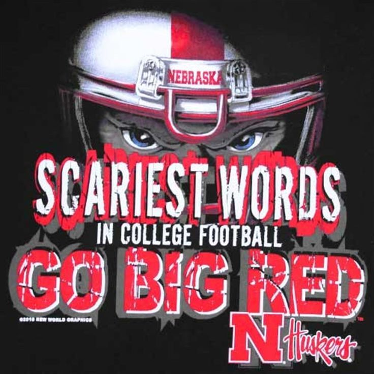 Nebraska Cornhuskers Black Scariest Words in Football T-shirt
