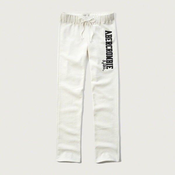 Abercrombie & Fitch Skinny Sweatpants ($29) ❤ liked on Polyvore featuring activewear, activewear pants, off white, skinny fit sweatpants, abercrombie fitch sweatpants, fleece sweat pants, sweat pants and skinny sweatpants
