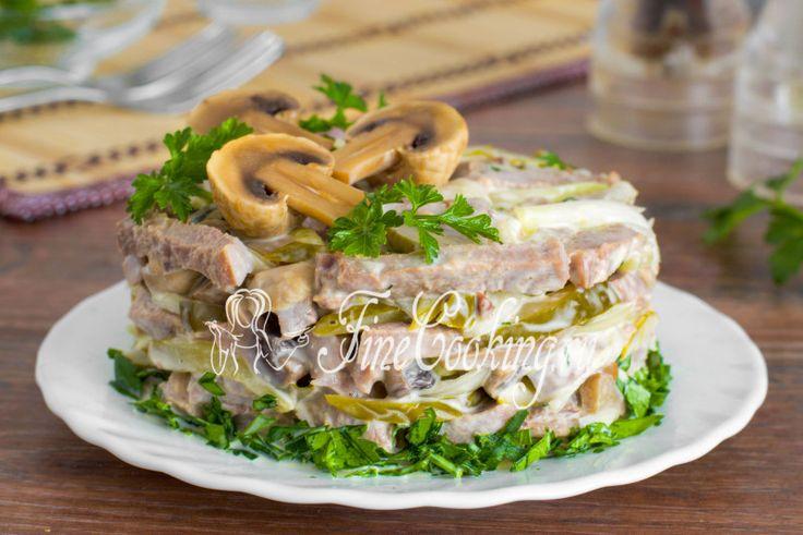Салат с языком - рецепт с фото