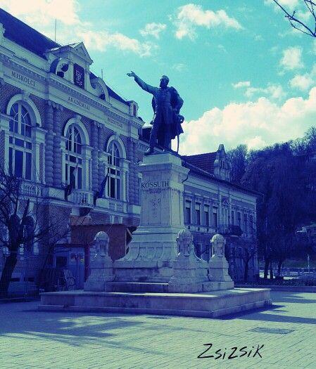 Erzsébet square in Miskolc