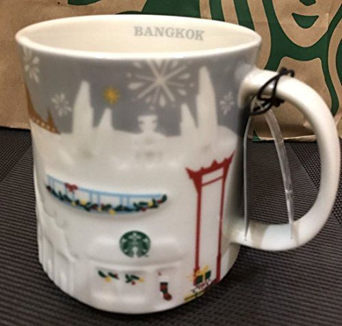 Thailand Starbucks Bangkok City Grey Relief Mug Global Se...