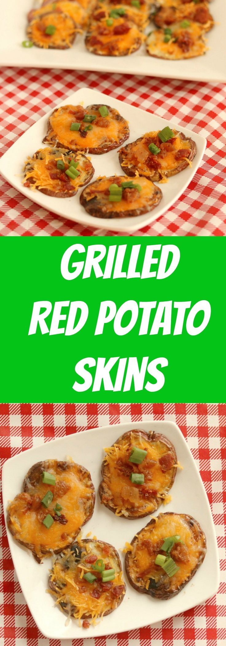 grilled red potato skins