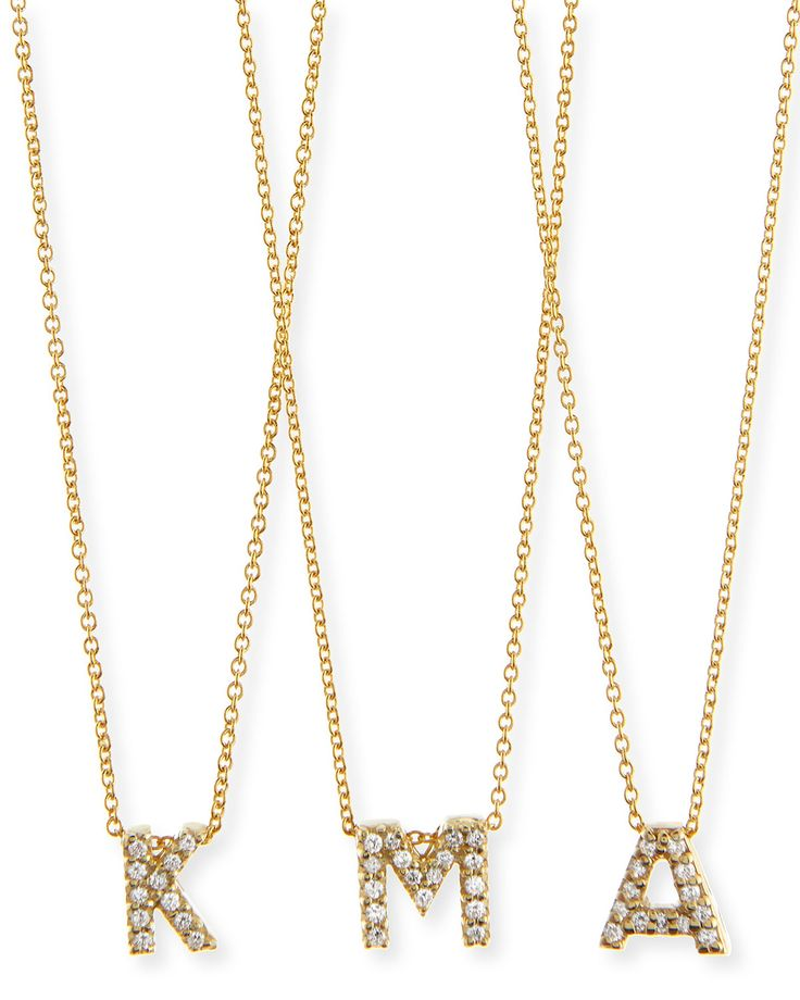 roberto coin initial necklace