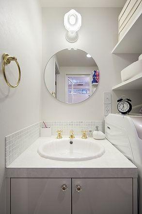 2階洗面にタイルを貼りたい