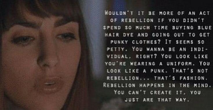 True rebellion happens in the mind. SLC Punk!
