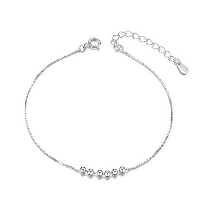SHEGRACE 925 Sterling Silver Anklet with Hexagram Platinum 200mm for Woman Mr5zzVpHY