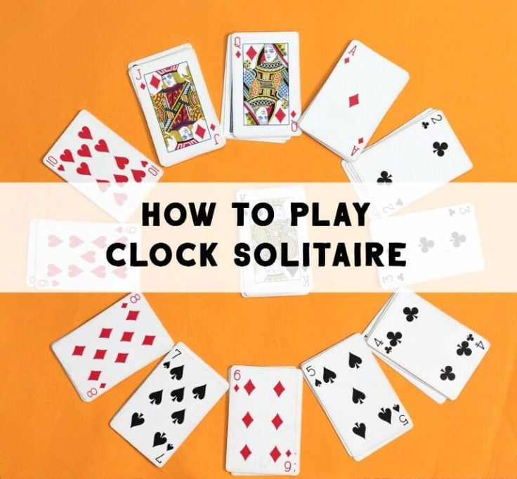 Clock solitaire card game keeps kids busy solitaire