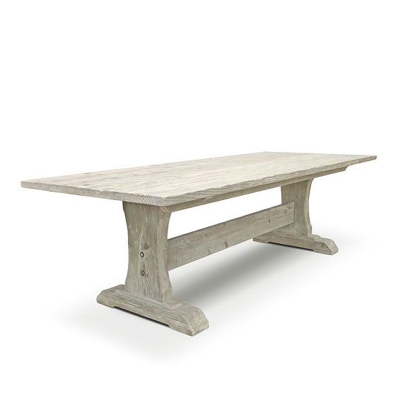 Dining Table Table Reclaimed Wood Trestle Table Wood