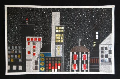 that artist woman: How to make a City Skyline - Art Project