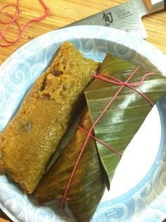 Pasteles Puerto Rican Style Tamale Made with Green Bananas