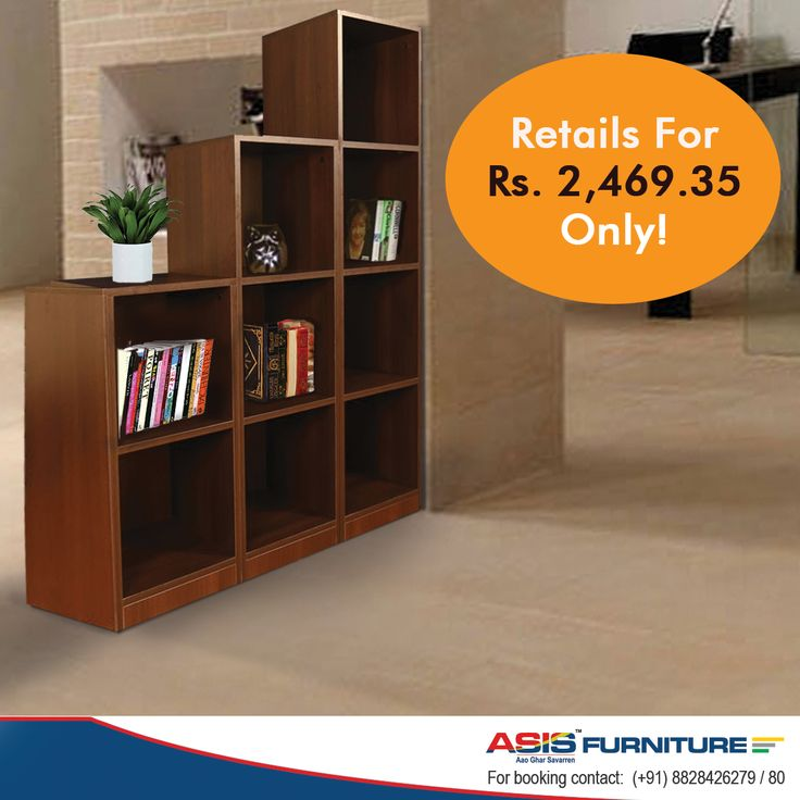 Looking for a bookshelf that is both cheap and expansive in terms of space? Buy the ASIS open book shelf and store your expansive book collection with ease.   Shop at : http://bit.ly/1Xev6Q2