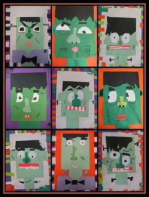 Frankenstein craft... but also great blog for early childhood