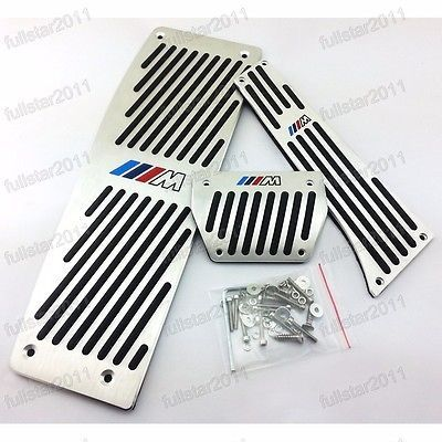 3Pcs Brake Foot Rest Pedal Covers AT For BMW ///M 3 Series F30 2012-2014