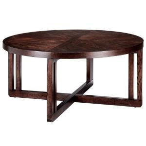Martha Stewart Living, Sable Brown Lombard Round Coffee Table, 0414900820 at The Home Depot - Mobile