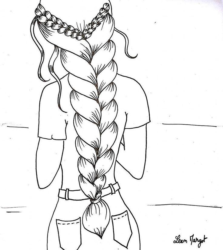 Раскраска волосы длинные широком изобилии