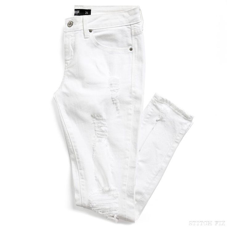Stitch fix spring 2016 White distressed Jean