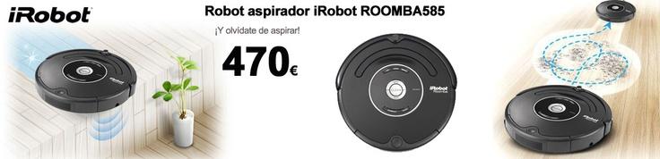 Olvídate de la escoba con tu Robot aspirador iRobot ROOMBA585 con 26% de descuento http://www.esmio.es/blog/programalo-y-olvidate-de-pasar-la-escoba/