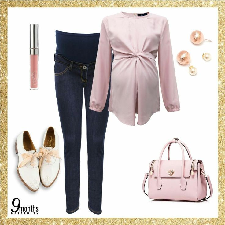 You can have fun and be cool at the same time.😎 Bring out your inner child in pink!🎀 Match it with skinny jeans and a pair of white laced shoes. Every mum-to-be can't go wrong with this combination. www.9monthsmaternity.com  Shop the look: Pink Crossover Tie Nursing Blouse → $46.54  Indigo Maternity Full Panel Skinny Jeans → $52.01