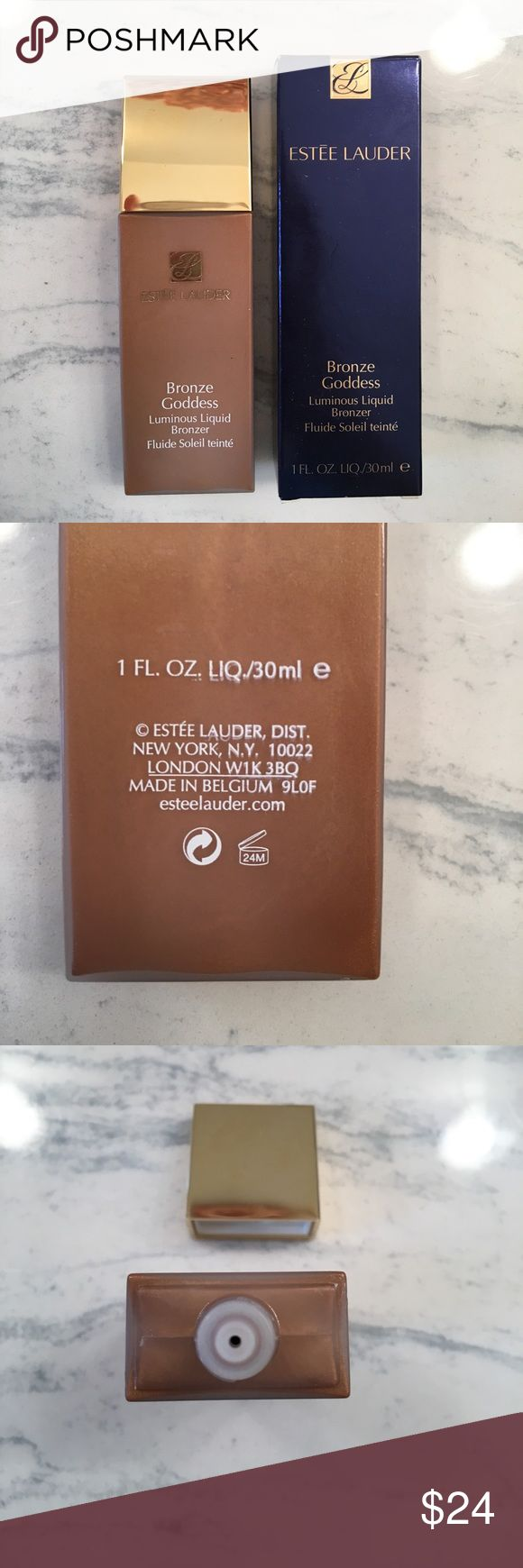 New Estée Lauder Bronzer New in box Estée Lauder bronze goddess luminous liquid Bronzer. All skin types.  Perfect alone or to mix in with tinted moisturizer, foundation, BB, or CC cream to add extra glow or color. Sephora Makeup
