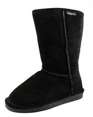 BearPaw Emma Women Round Toe Suede Black Snow Boot.
