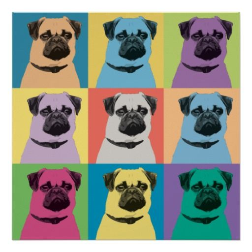 Pug Pop-Art Poster @zazzle #zazzle #poster #wall #decor #print #pug #pugs #dog #dogs #funny #cute #pet #pets #buy #shop #shopping #sale #nice #cool #awesome #friends #family #gift #idea #women #men