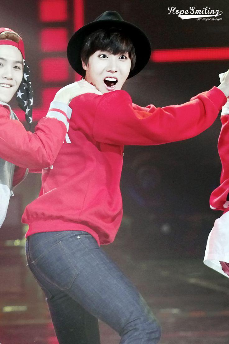 jhope hoseok bts bangtan boys cute funny face dancing red