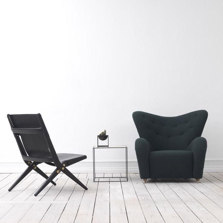 """""""Saxe"""" Klapptsuhl und """"Der müde Mann"""" - Sitzmöbel und Designklassiker wieder zu haben. by Lassen, Mogens Lassen, Flemming Lassen"""