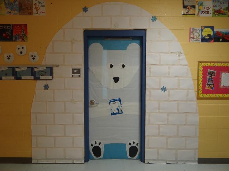 classroom door for winter i did a polar bear polar bear