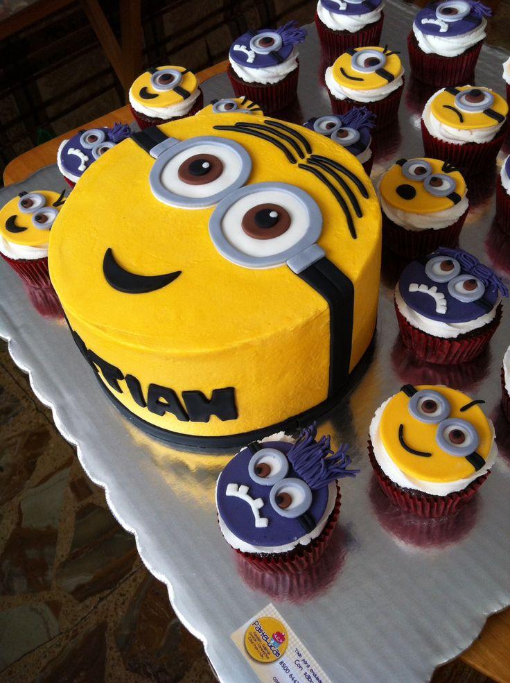 Minion Cake Amp Cupcakes Cakes Pinterest Minion Cakes