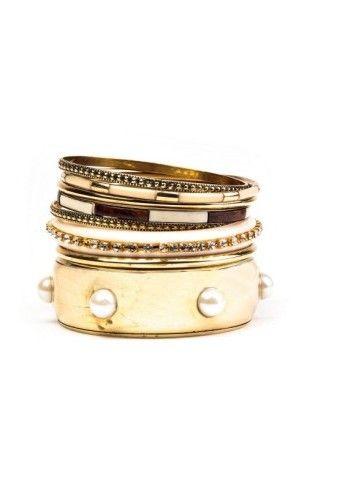 Sada 7 náramků ve zlaté barvě #modino_cz #modino_style #náramky #style #bracelet  #ModinoCZ