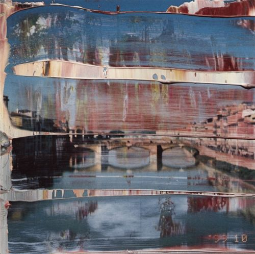 Gerhard Richter... my love Oil painting over photo