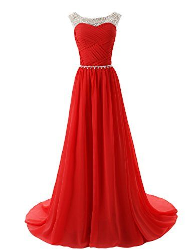 Dressystar Beaded Straps Bridesmaid Prom Dresses with Sparkling Embellished Waist for only $119.99 You save: $90.00 (43%)