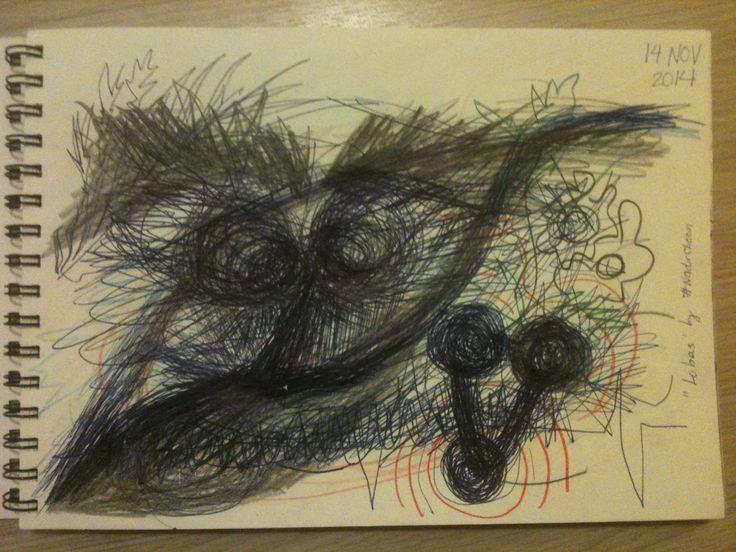 """Lobas"" by #NadirChacin #50dibujos50dias #50Drawings50days #Drawings [Barcelona, 14 nov. 2014]"