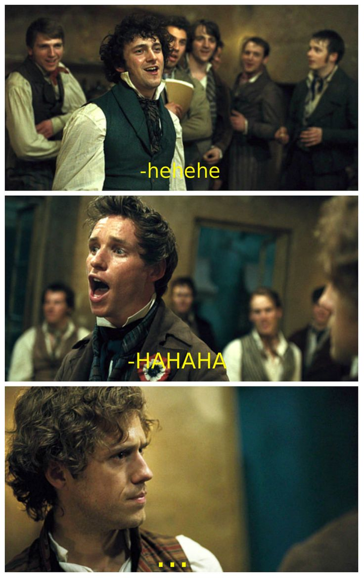 """The Real Les Mis Captions"" - Enjolras is surrounded by idiots."