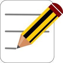 Pencil and paper; writing; reporting; recording - Not attribution needed